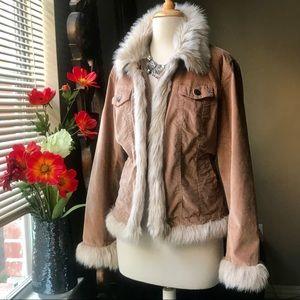 Fabulous faux fur lined velvet jacket